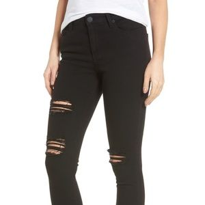 STS high waist ankle distressed skinny jeans